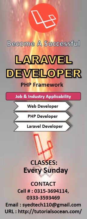 Laravel Training in Pakistan